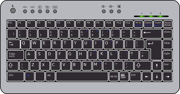 Cartoon computer keyboard clipart svg transparent Compact Keyboard Clip Art at Clker.com - vector clip art online ... svg transparent