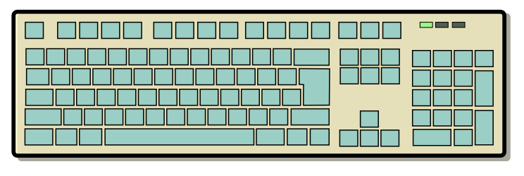 Cartoon computer keyboard clipart clipart royalty free library Computer Keyboard Clipart - Clipart Kid clipart royalty free library