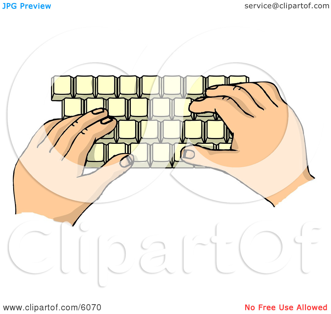 Cartoon computer keyboard clipart picture royalty free library Hands Typing on a Computer Keyboard Clipart Picture by Dennis Cox ... picture royalty free library