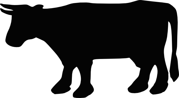 Cartoon cow silhouette clipart picture transparent download Cow Silhouette 1 Clip Art at Clker.com - vector clip art online ... picture transparent download