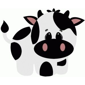 Cartoon cow silhouette clipart clip art freeuse download Cow on the farm | Free Svg invites | Farm animal party, Baby farm ... clip art freeuse download
