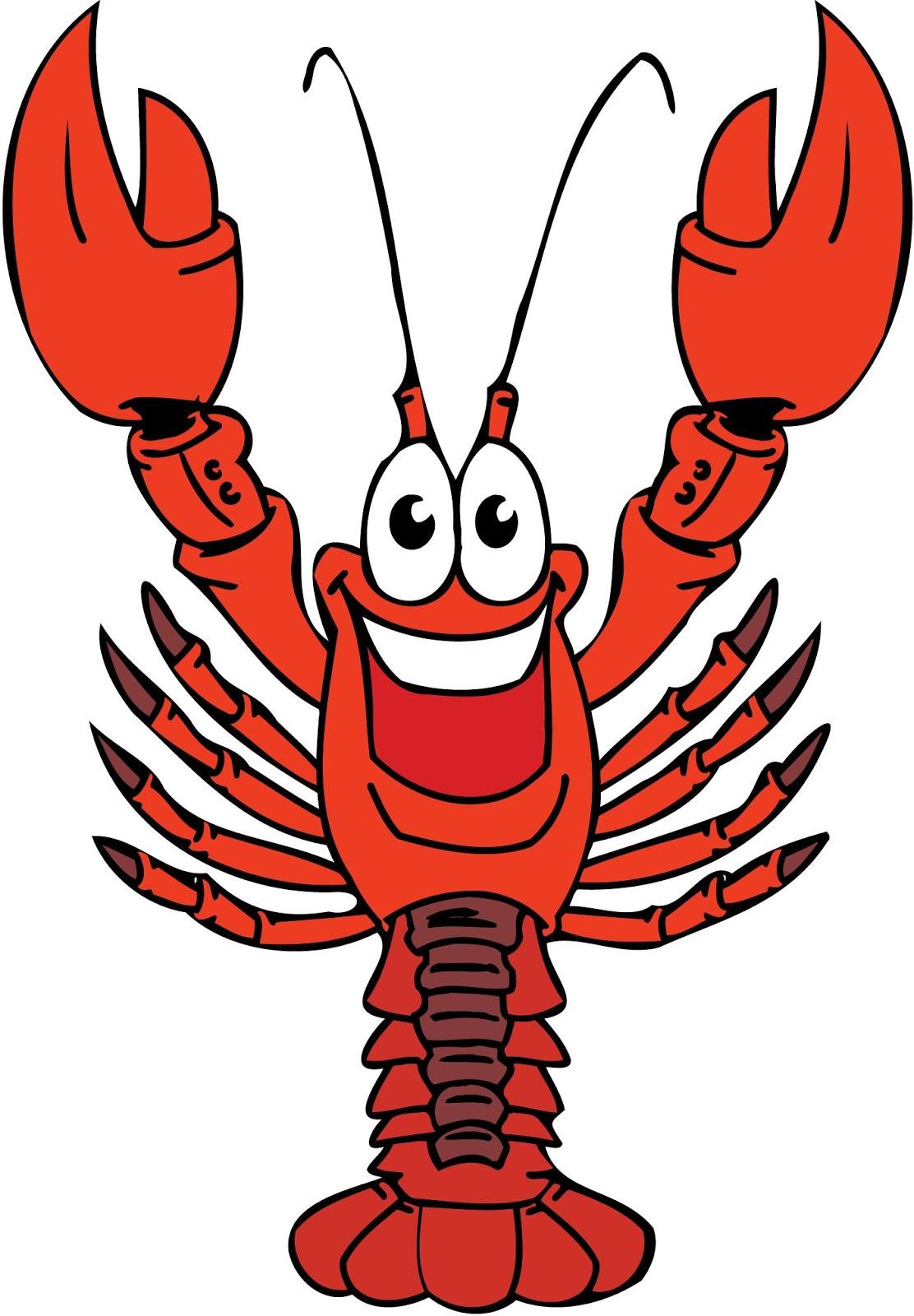 Cartoon crawfish clipart free free stock Crawfish Cartoon Clip Art N4 free image free stock