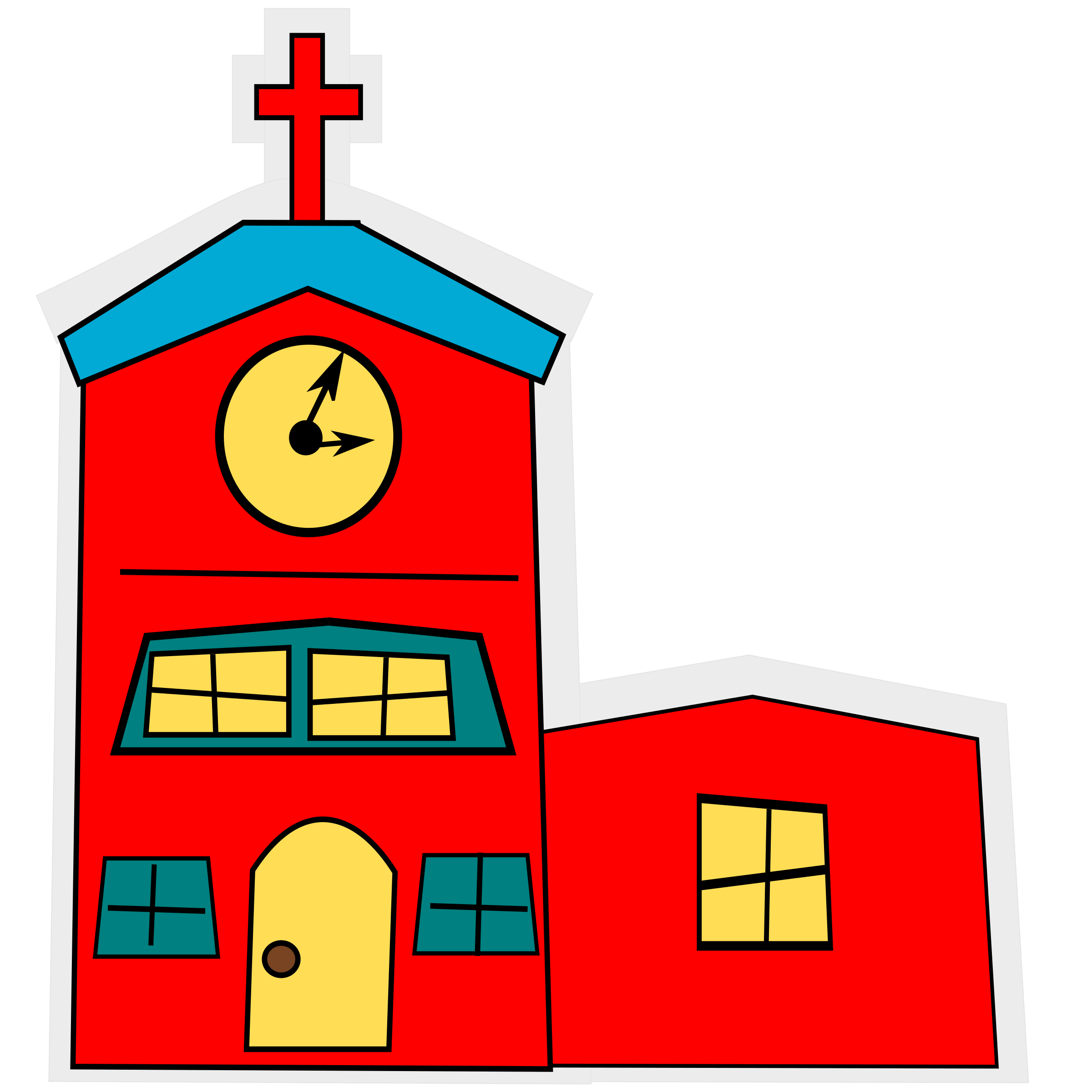 Cartoon cross clipart picture royalty free stock Clipart - cartoon-church with a cross picture royalty free stock