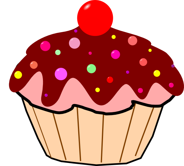 Cartoon cupcake clipart clip black and white library Chocolate Cupcake Clip Art at Clker.com - vector clip art online ... clip black and white library