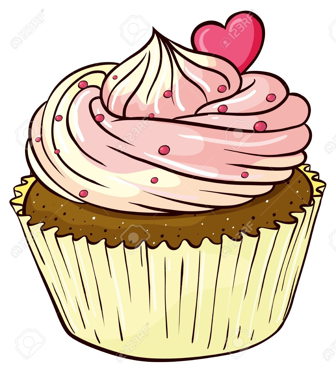 Cartoon cupcake clipart picture free stock Cupcake Clipart Stock Photos Images, Royalty Free Cupcake Clipart ... picture free stock