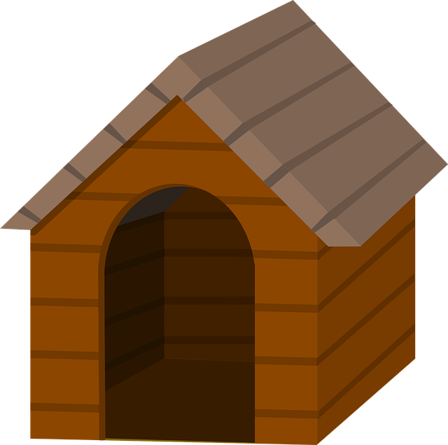 Dog outside clipart svg stock Cartoon Dog House Pictures Group (55+) svg stock
