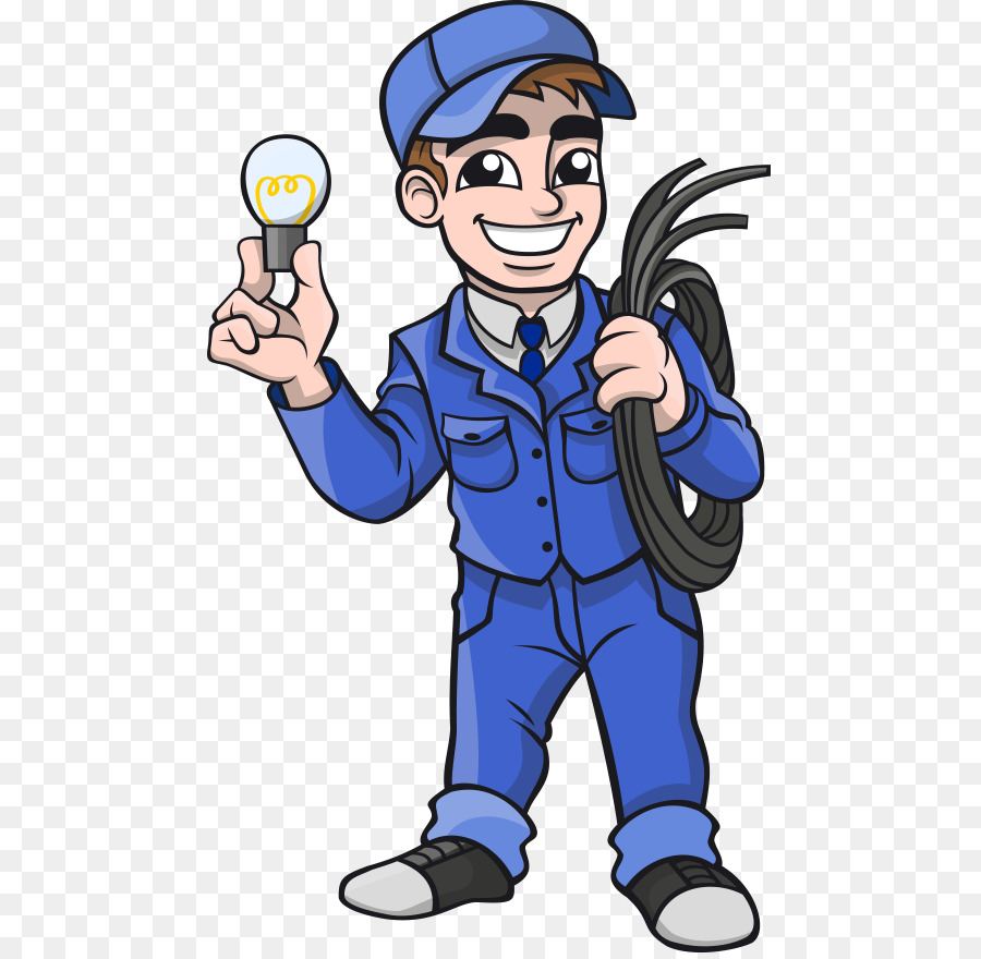 Cartoon electrician clipart image transparent Cartoon Cartoon clipart - Electrician, Electricity, Cartoon ... image transparent