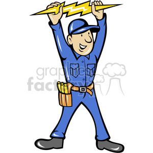 Cartoon electrician clipart clip free download electrician thunderbolt toolman clipart. Royalty-free clipart # 388268 clip free download