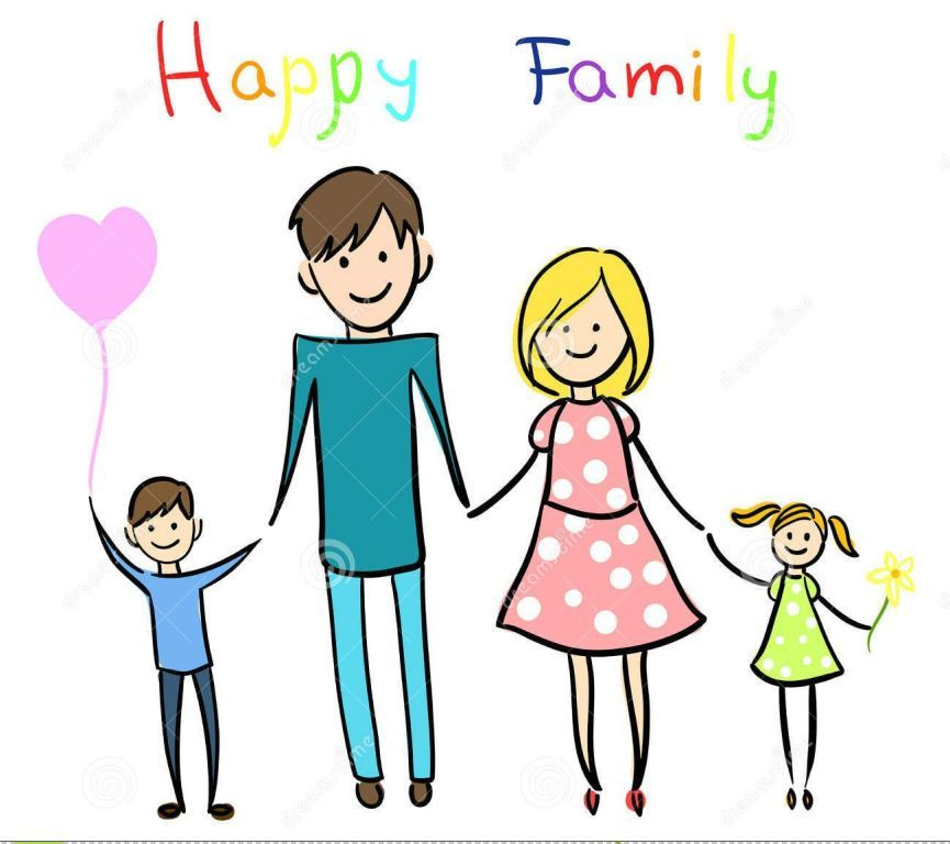 Cartoon family clipart svg free download Happy Cartoon Family Clipart Share On Facebook | Girl svg free download