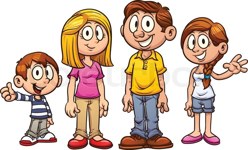 Cartoon family clipart vector free download Cartoon family vector clip art | Clipart Panda - Free Clipart Images vector free download