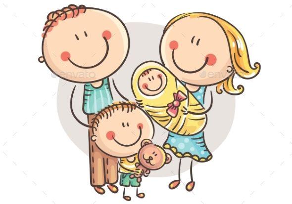 Cartoon family clipart vector download Happy Family with Two Children #Happy, #Family, #Children | Law Logo ... vector download