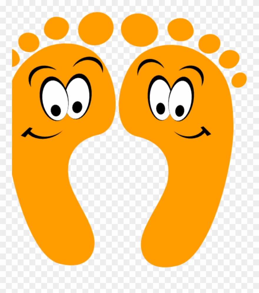 Cartoon feet clipart vector transparent stock Happy Feet Clipart Orange Happy Feet Clip Art At Clker - Cartoon ... vector transparent stock