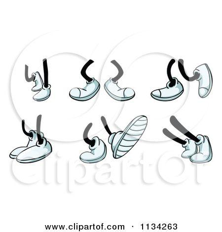 Cartoon feet clipart