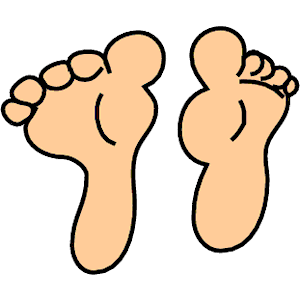 Cartoon feet clipart picture black and white stock Cartoon Pictures Of Feet | Free download best Cartoon Pictures Of ... picture black and white stock