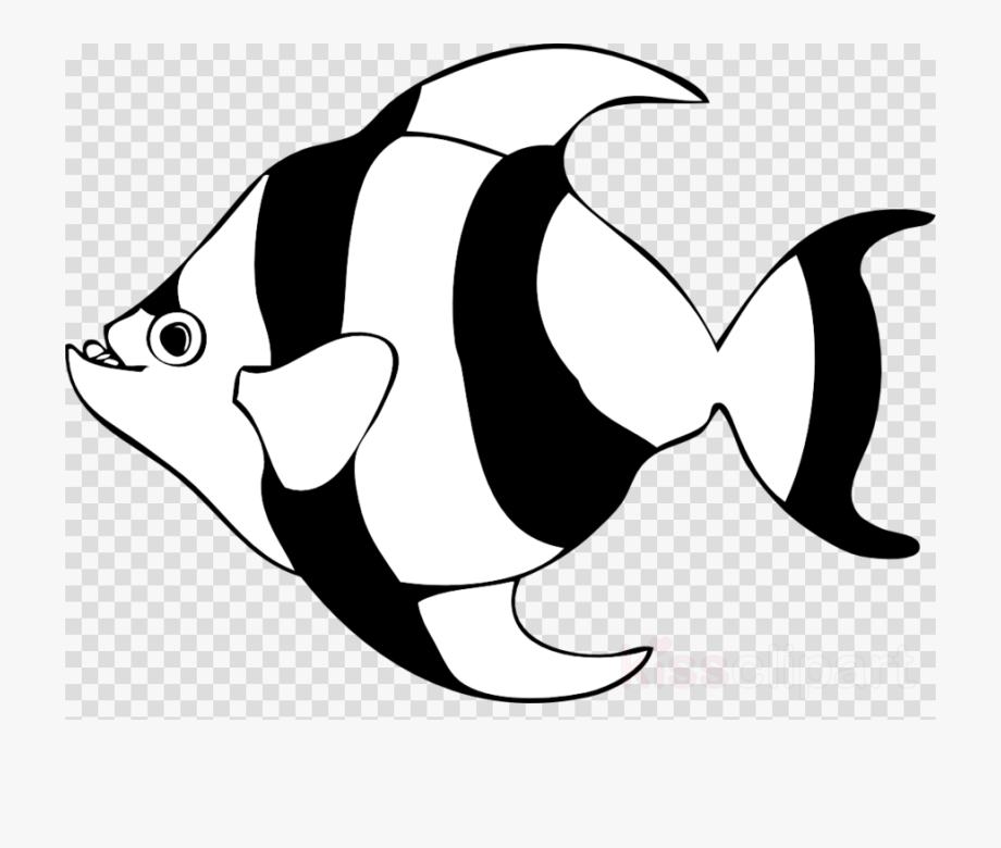 Cartoon fish clipart black and white transparent background png royalty free library Fish, Fishing, Transparent Png Image & Clipart Free - Fish Outline ... png royalty free library