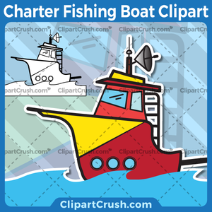 Cartoon fishing boat clipart jpg royalty free download Charter Fishing Boat Clipart jpg royalty free download