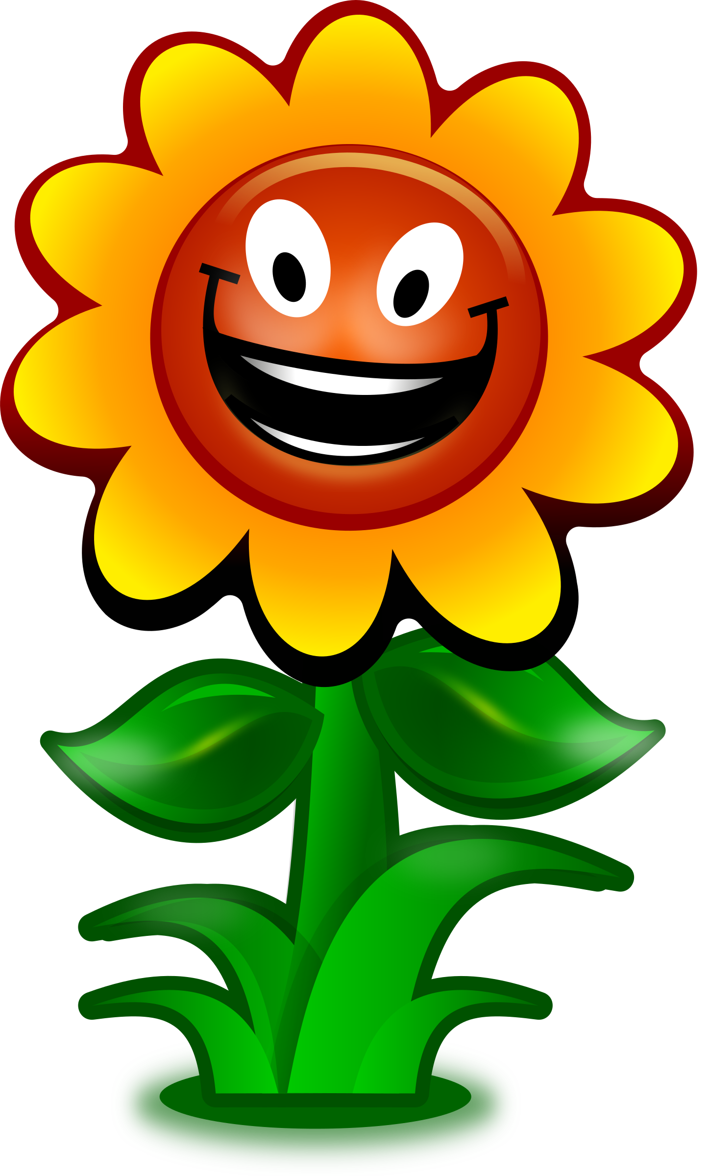 Game character big image. Flower cartoon clipart
