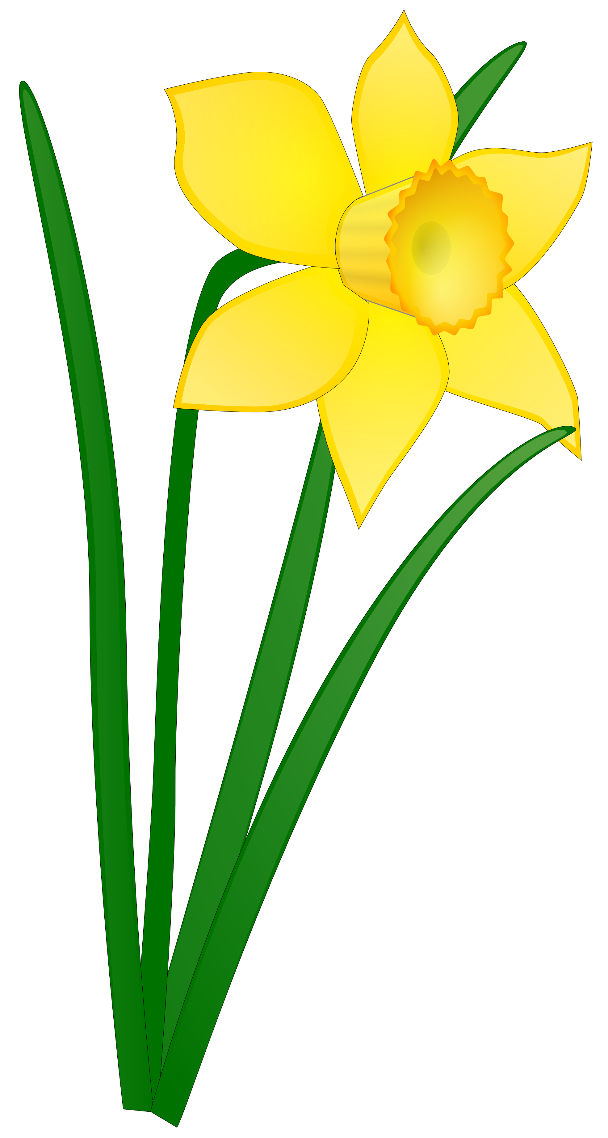 Yellow cross clipart vector free library Daffodil Flower Clip Art Clipart Panda Free Clipart Images | Clipart ... vector free library