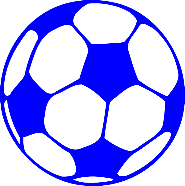 Cartoon football clipart clipart free stock Blue Football Clip Art at Clker.com - vector clip art online ... clipart free stock