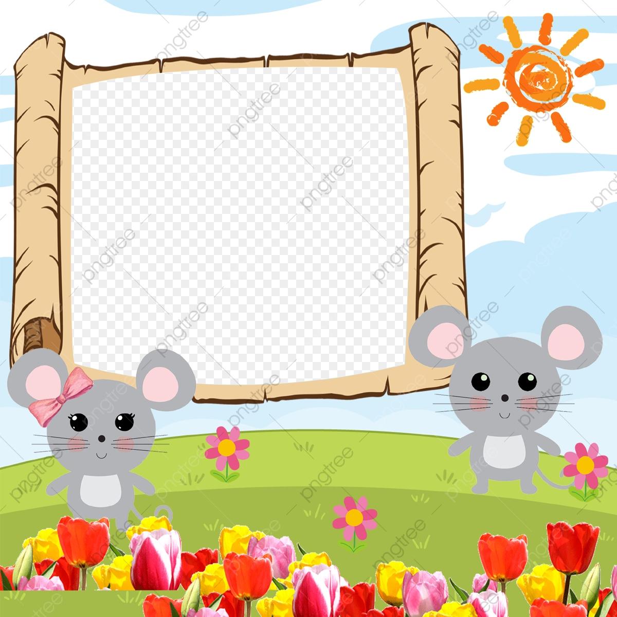 Cartoon Picture Frame, Children Frame, Flowers, Cartoon Frames PNG ... svg black and white