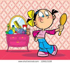 Cartoon girl in mirror clipart picture freeuse stock Image result for makeup girl in mirror clipart | Art: Art ... picture freeuse stock