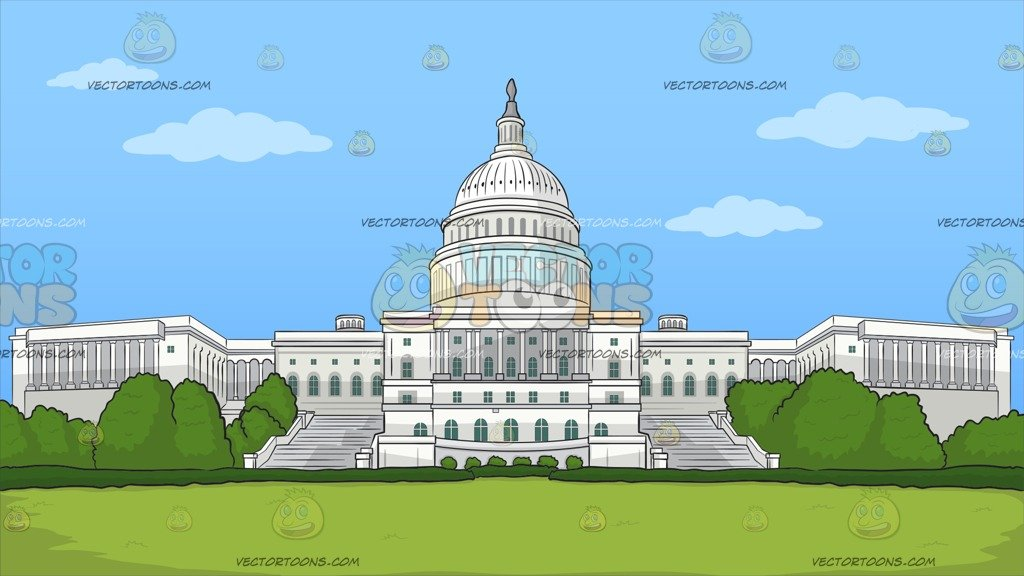Cartoon government buildings aerial viewstate capitol clipart picture black and white library The Us Capitol Building Background picture black and white library