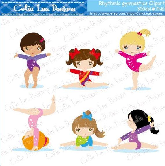 Cartoon gymnastics clipart graphic freeuse library Gymnastics Clipart, Cute girl sport clip art , Rhythmic gymnastic ... graphic freeuse library