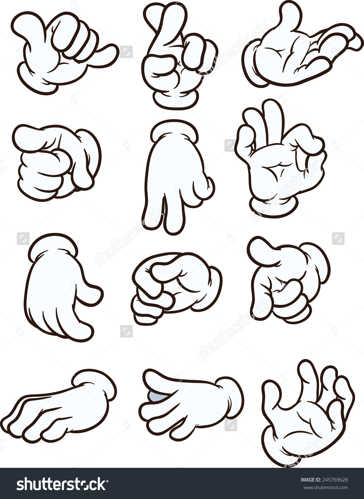 Cartoon hand clipart image free library Cartoon hand clipart - ClipartFest image free library