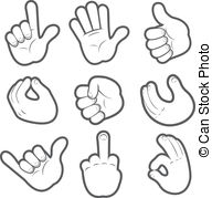Cartoon hand clipart black and white stock Hand Stock Illustrations. 1,256,566 Hand clip art images and ... black and white stock