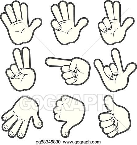 Cartoon hands clipart clip art black and white EPS Vector - Cartoon hands #1. Stock Clipart Illustration gg58345830 ... clip art black and white