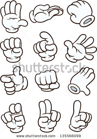 Cartoon hands clipart clip black and white Clipart cartoon hands 2 » Clipart Station clip black and white