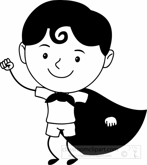 Cartoon hero clipart b&w banner free library Free black and white cartoons outline clipart clip art pictures ... banner free library