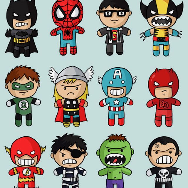 Snoopy clipart superhero graphic stock Cute superheroes drawing... | Superheroes And Whatnot. | Superhero ... graphic stock