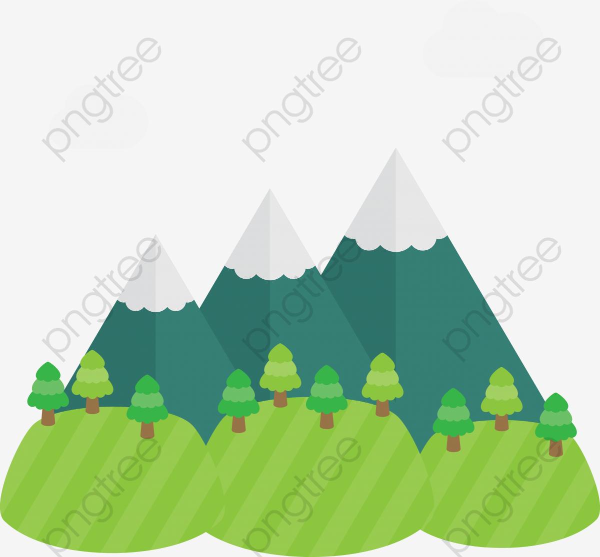 Vector Cartoon Three Hills, Cartoon Clipart, Mountain, Cartoon ... jpg freeuse stock