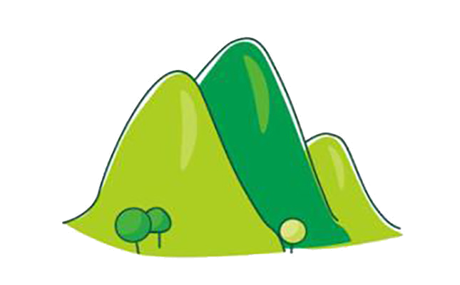 Cartoon hill clipart