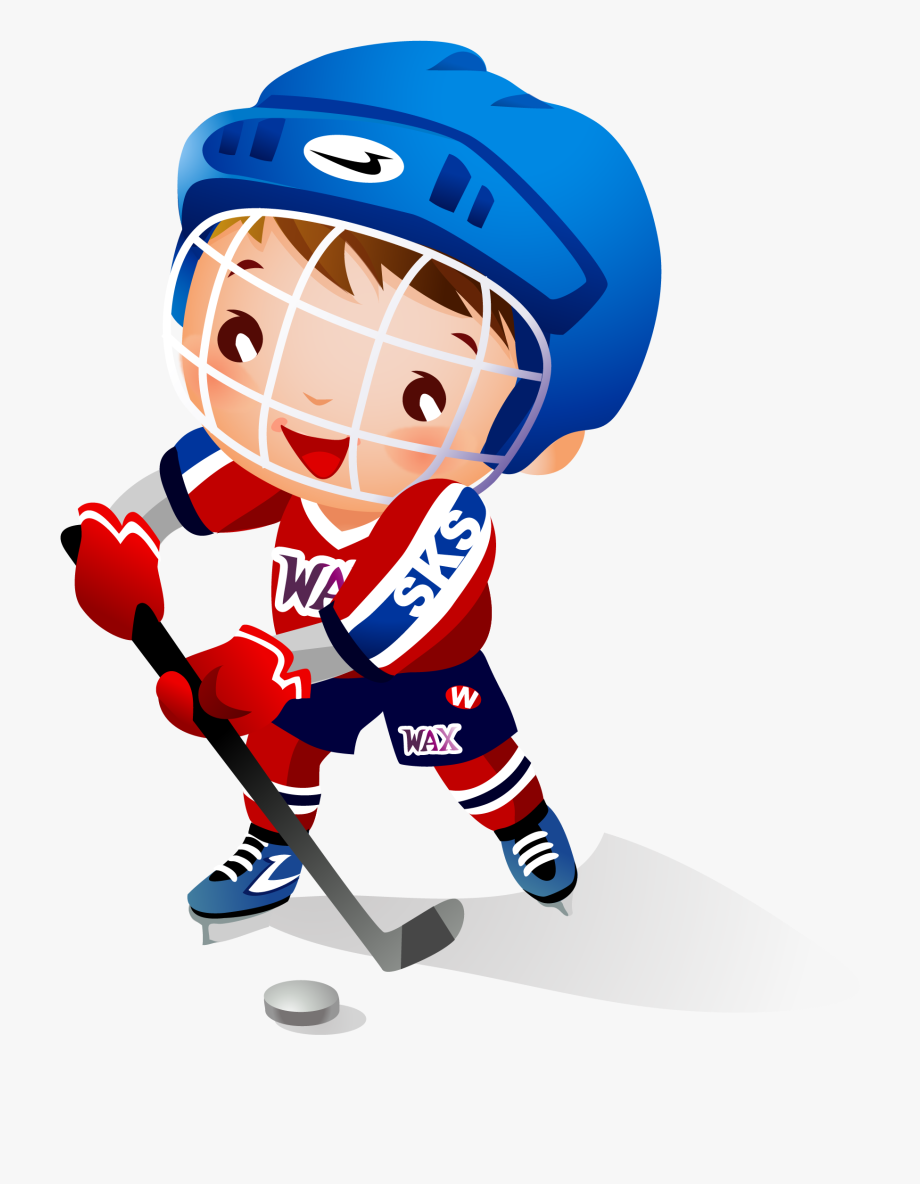 Cartoon hockey player clipart graphic black and white download Ball Clipart Hockey Stick - Boy Playing Hockey Cartoon #332578 ... graphic black and white download