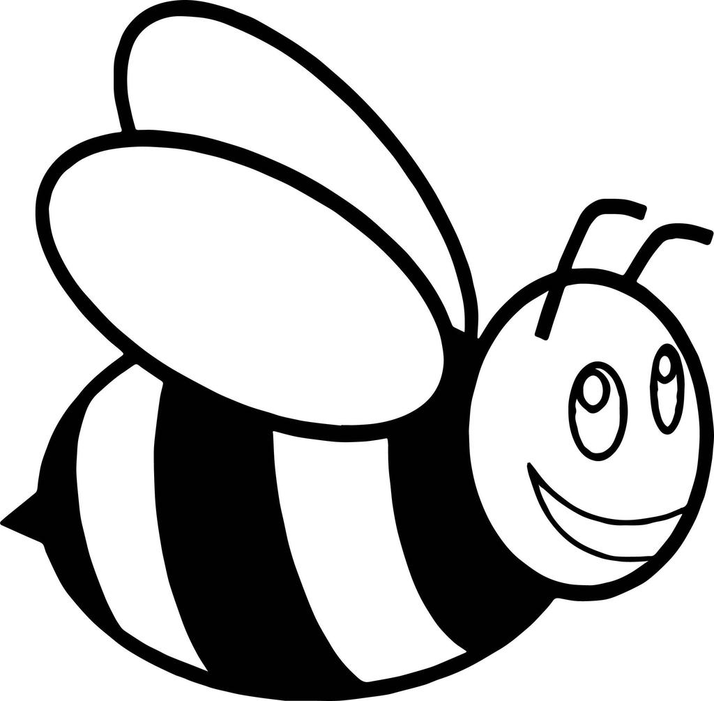 Cartoon honey bee clipart black and white jpg black and white stock Honey Bee Clipart Cartoon for Girls - Clipart1001 - Free Cliparts jpg black and white stock