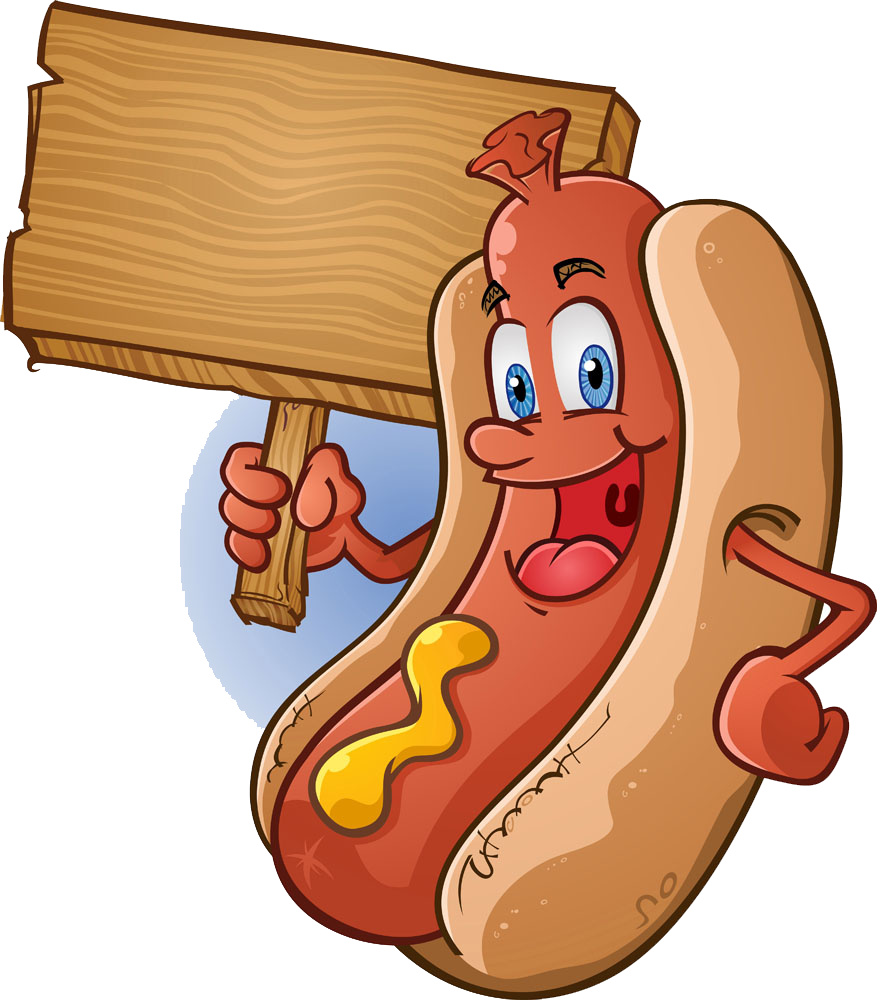 Cartoon hot dog clipart png royalty free stock Hot dog Sausage Bratwurst Barbecue - For wooden sign cartoon hot dog ... png royalty free stock
