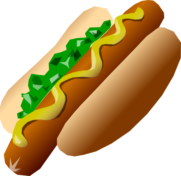Cartoon hot dog clipart graphic transparent Hot Dog Clip Art at Clker.com - vector clip art online, royalty free ... graphic transparent