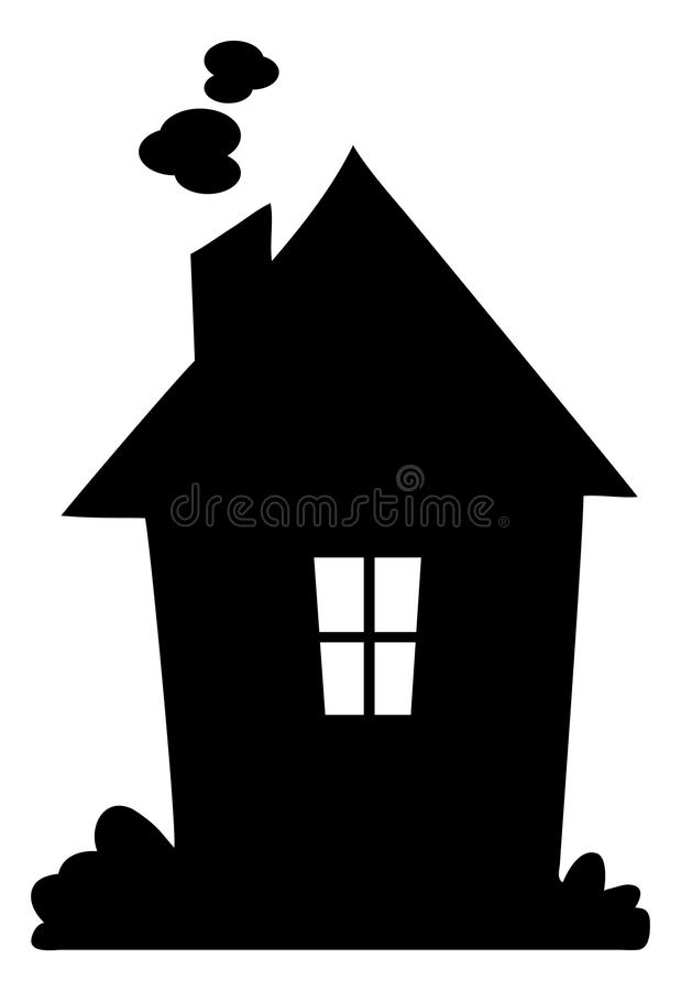 Cartoon house silhouette clipart graphic freeuse stock Cartoon House Silhouette graphic freeuse stock
