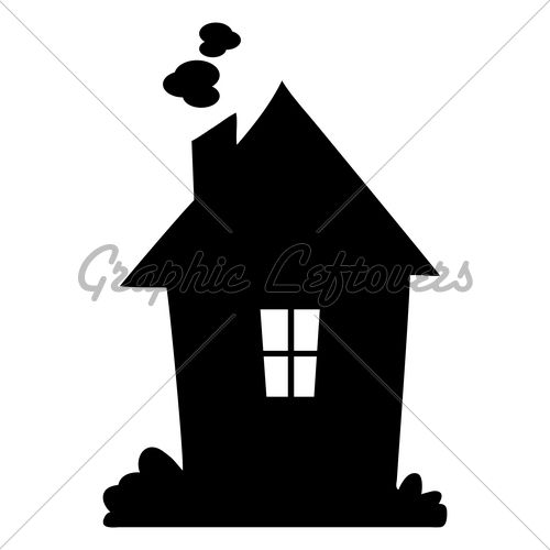 Cartoon house silhouette clipart svg black and white cartoon vector illustration of a HOUSE Silhouette | Solo | House ... svg black and white