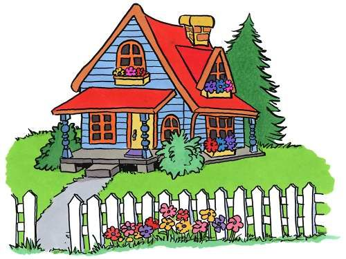 Cartoon houses clipart clip art stock Clip Art of Houses, Cottages & Homes - Architectural Clip Art | CUTE ... clip art stock