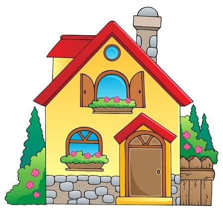 Cartoon houses clipart clip art free library 167 611 House Real Cliparts Stock Vector And Royalty Free Alive ... clip art free library