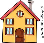Cartoon houses clipart image freeuse Cartoon House Clip Art - Royalty Free - GoGraph image freeuse
