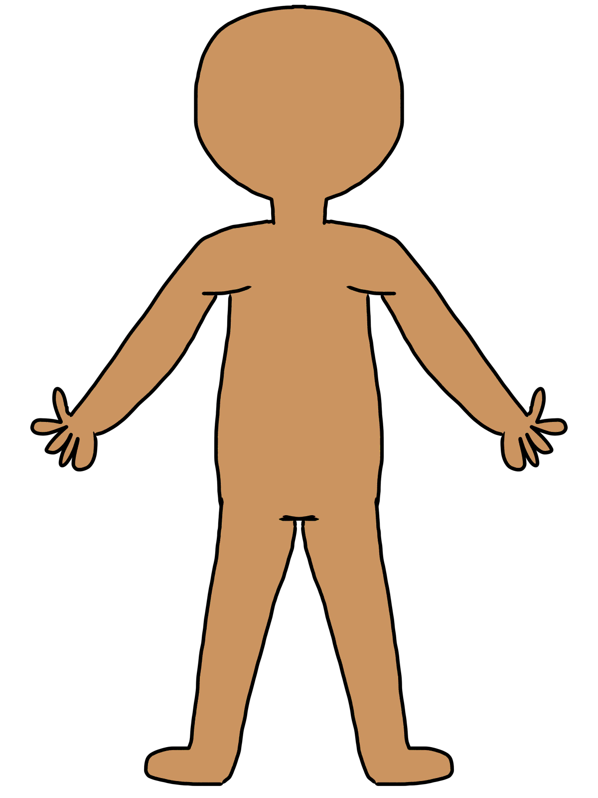 Cartoon human body clipart transparent Body Cliparts - Cliparts Zone transparent