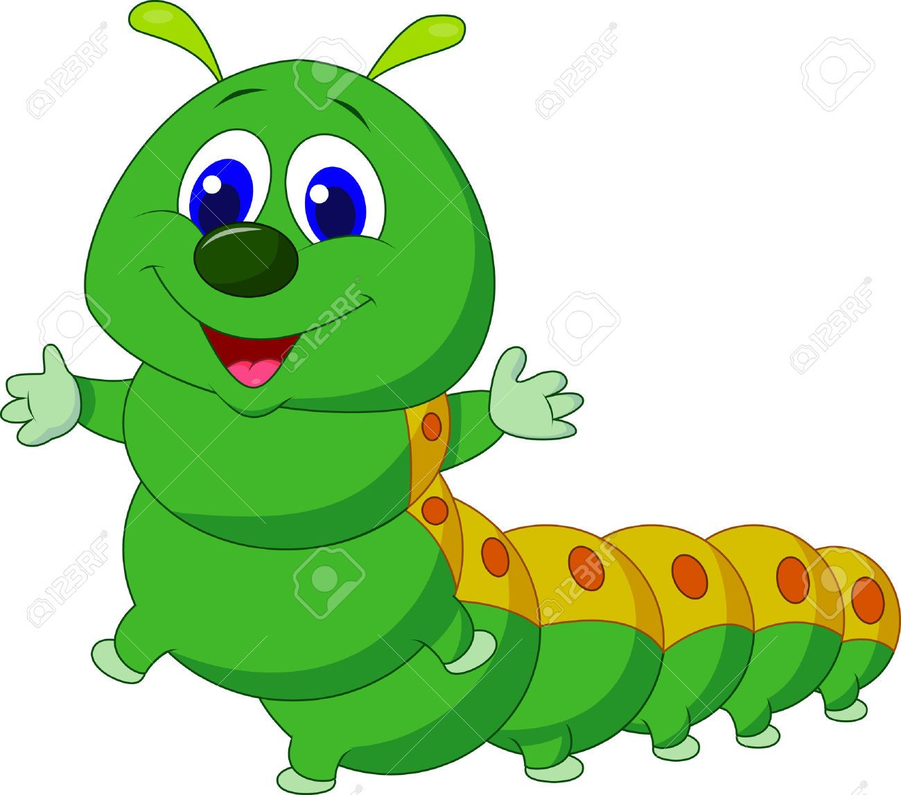 Caterfillar free clipart