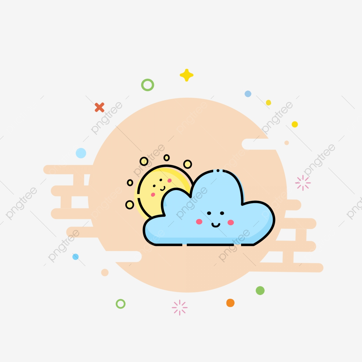 Cartoon icon clipart graphic library library Hand Drawn Icon Cute Icon Cartoon Icon Mbe Style Icon, Cloudy ... graphic library library