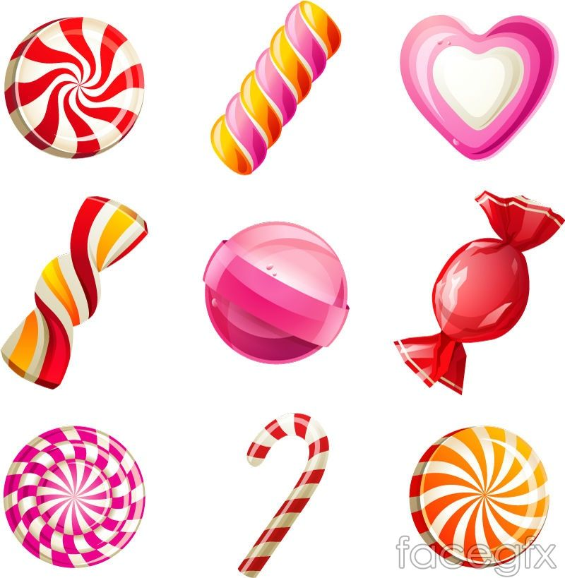 9 candy cartoon icon vector | Vectorlicious in 2019 | Candy icon ... clipart free stock