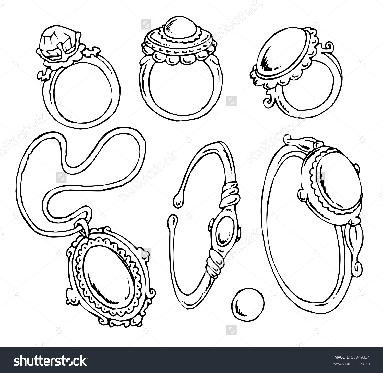 Cartoon jewelry clipart jpg freeuse Cartoon Jewelry-Clip-Art | Clipart Panda - Free Clipart Images jpg freeuse