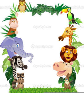 Cartoon jungle animal clipart image black and white Free Cartoon Jungle Animal Clipart | Free Images at Clker.com ... image black and white